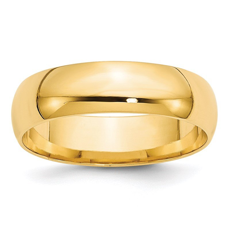 Quality Gold 14KY 6mm LTW Comfort Fit Band Size 10