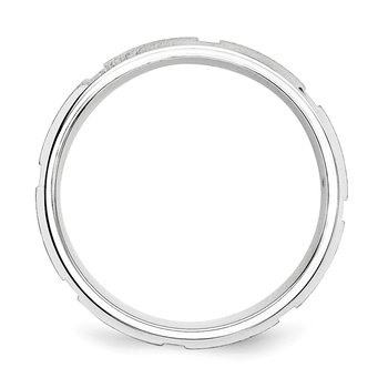 SS 8mm Brushed Fancy Band Size 10