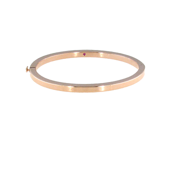 #26564 Of 18Kt Gold Oval Bangle