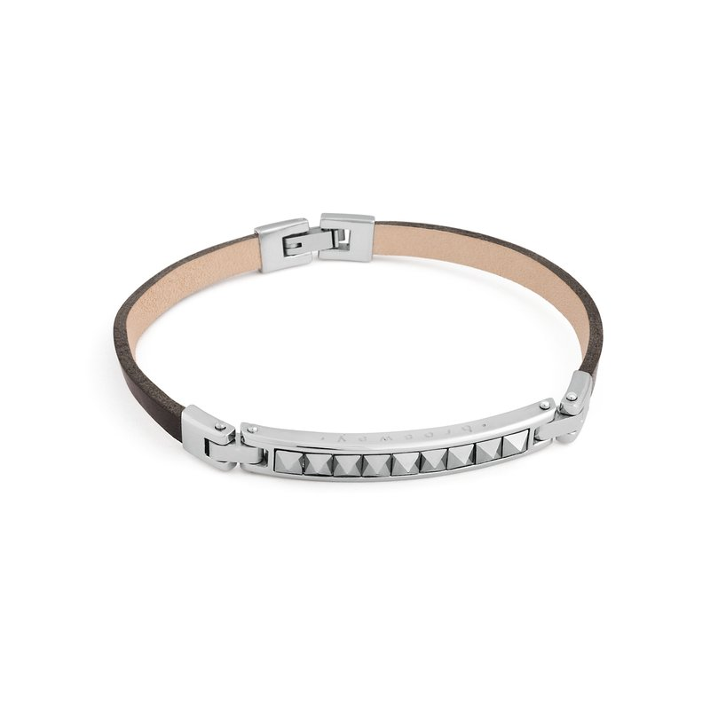 Brosway 316L stainless steel, leather and crystals Swarovski® Elements