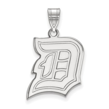 Sterling Silver Duquesne University NCAA Pendant