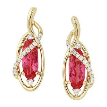 Padparadscha Earrings-CE3090YPD