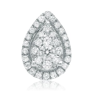 White Diamond Pear-shaped Earrings