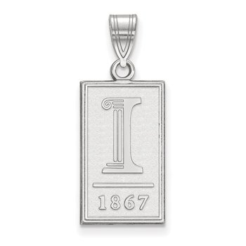 Sterling Silver University of Illinois NCAA Pendant