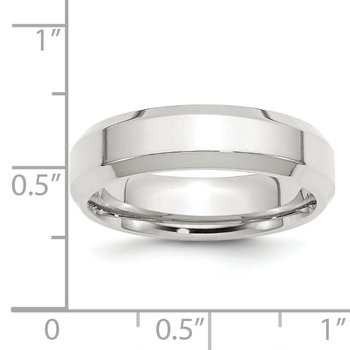SS 6mm Bevel Edge Size 10 Band