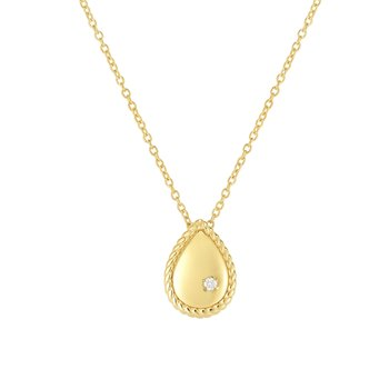 14K Gold Diamond Teardrop Piccolini Pendant