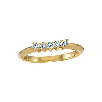 14k Yellow Gold 0.25 Ct Diamond Wrap Band