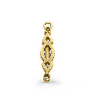 Yellow Gold Diamond Retro Vintage Pendant Component