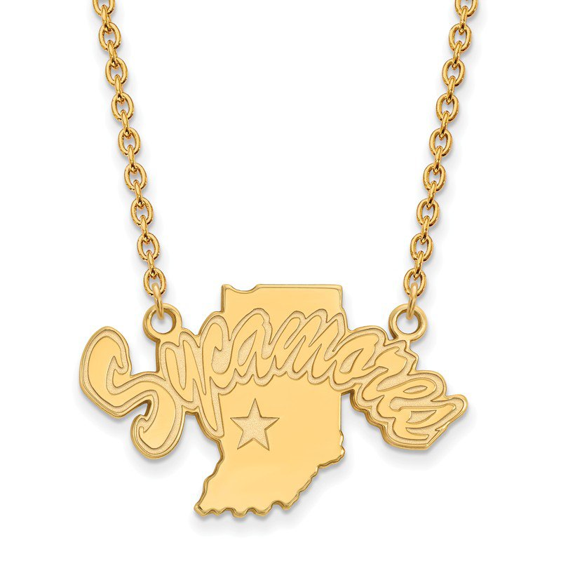 NCAA Gold Indiana State University NCAA Necklace