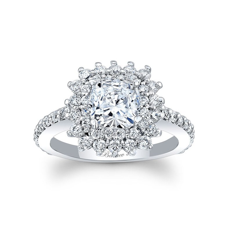 Barkev's Cushion Cut Engagement Ring