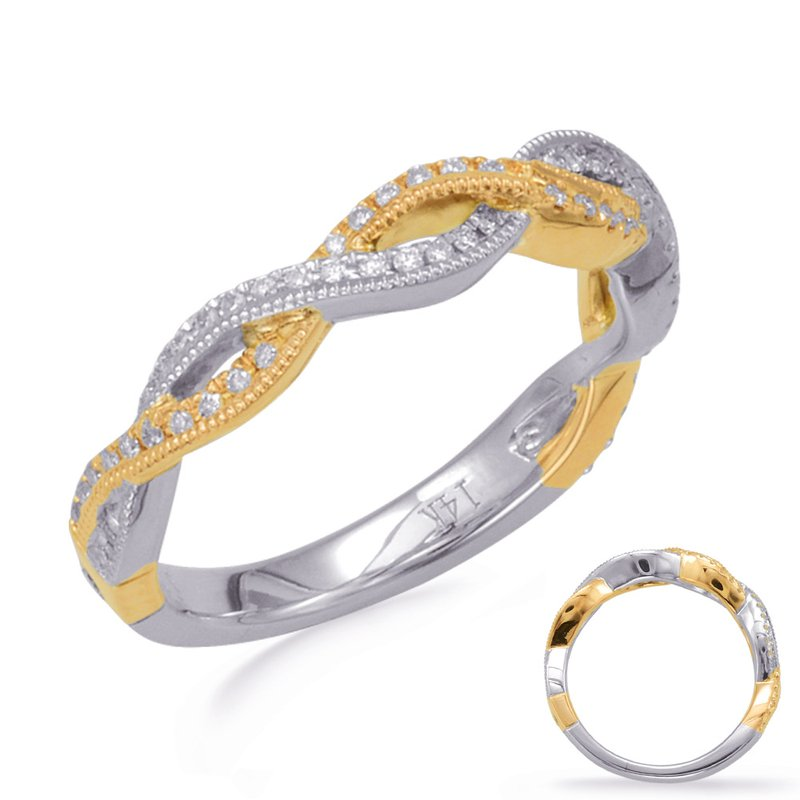S. Kashi & Sons Bridal White & Yellow Gold Matching Band