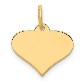 14k Plain .027 Gauge Engraveable Heart Disc Charm