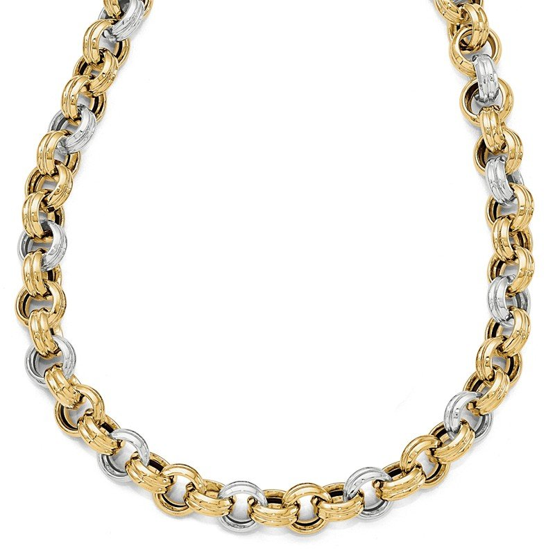 Leslie's Leslie's 14K Two-tone Polished Fancy Necklace