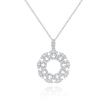 14K Diamond Wreath Pendant