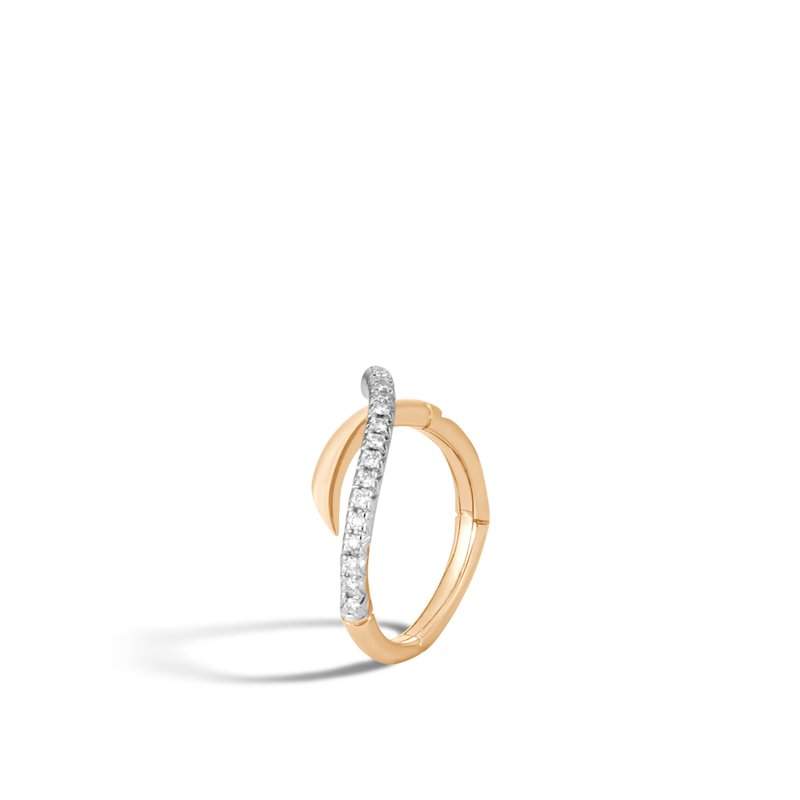 John Hardy Bamboo Ring in 18K Gold with Diamonds