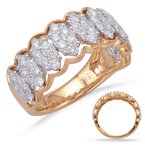 Briana Rose & White Gold Diamond Fashion Ring