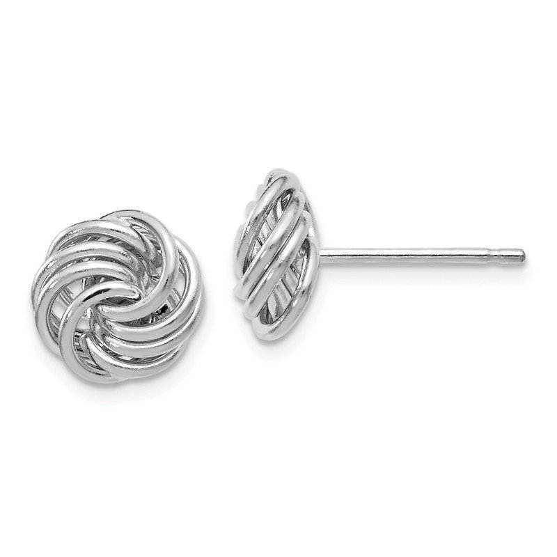 Leslie's Leslie's 14K White Gold Polished Love Knot Post Earrings