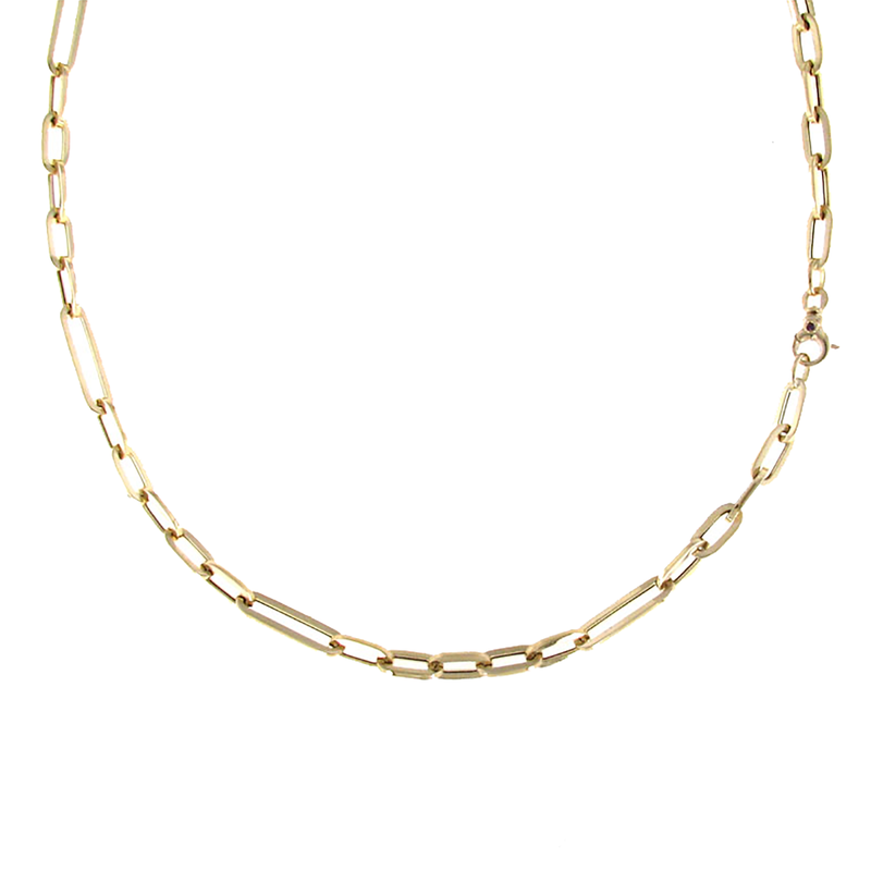 Roberto Coin 18Kt Gold Oval Link Long Necklace