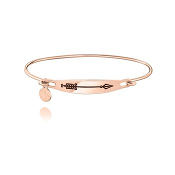 Arrow ID Bangle, Rose Gold, S/M