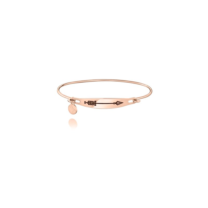 Chamilia Arrow ID Bangle, Rose Gold, S/M