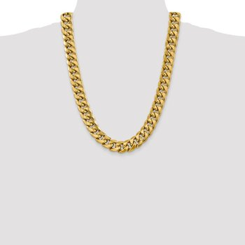 14k 15mm Semi-Solid Miami Cuban Chain
