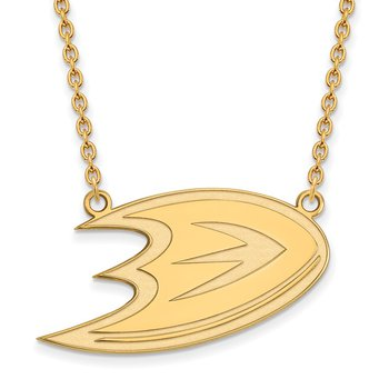 Gold-Plated Sterling Silver Anaheim Ducks NHL Necklace