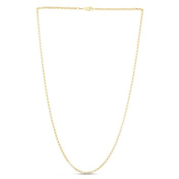 14K Gold 2.3mm Lite Rolo Chain