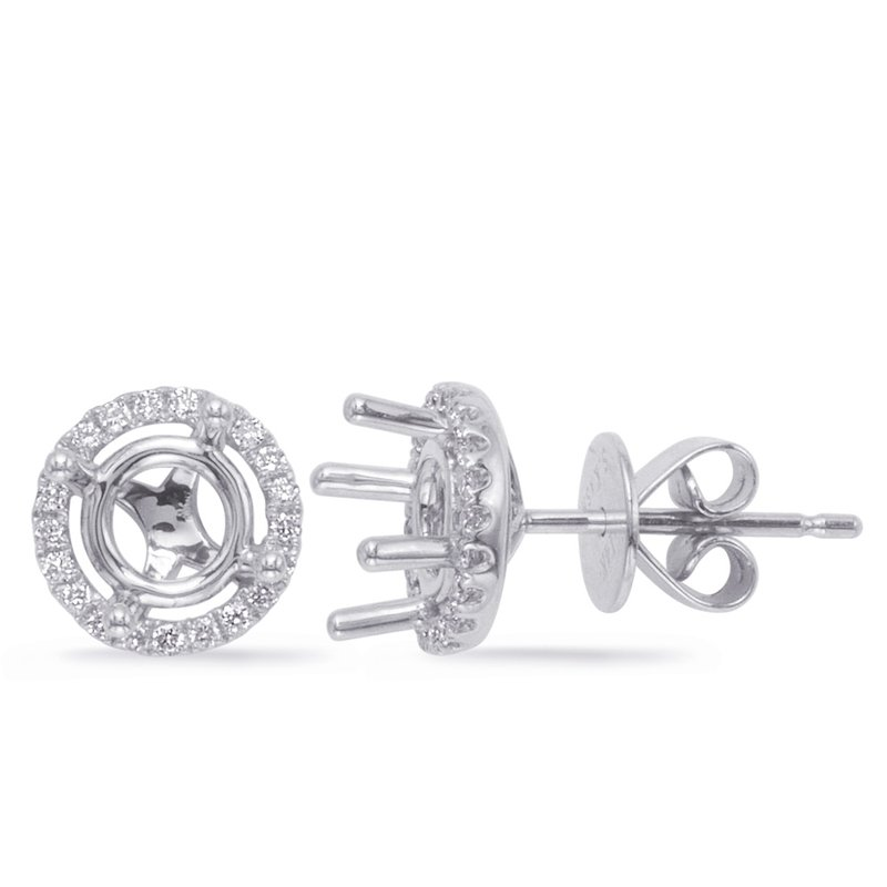 S. Kashi  & Sons Four Prong Earring Setting For 1.50ct tw
