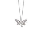 Roberto Coin 18Kt White Gold Diamond Butterfly Pendant