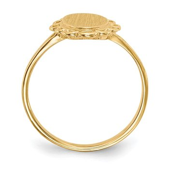 14k 13.0x7.0mm Open Back Signet Ring