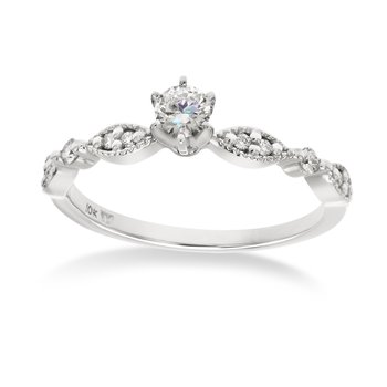 White gold & diamond engagement
