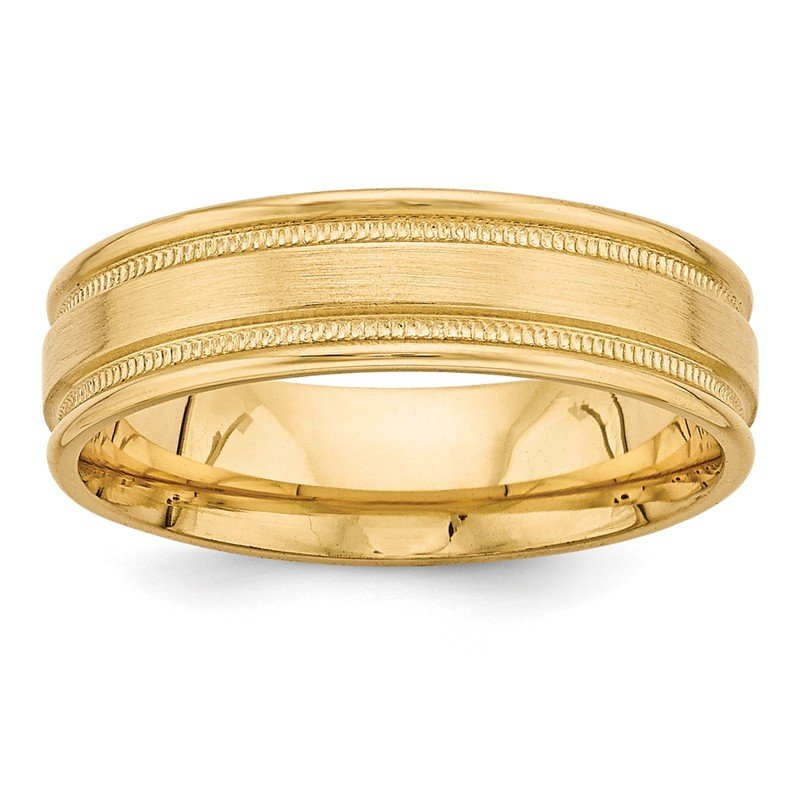 Quality Gold 14k Yellow Gold Standard Comfort Fit Fancy Band