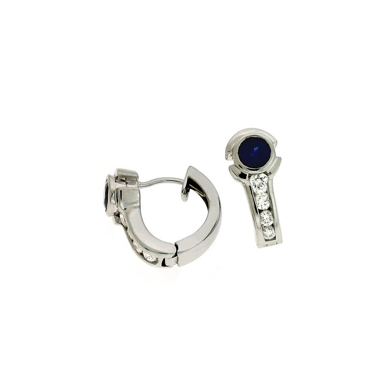 S. Kashi  & Sons Sapphire./dia Earring