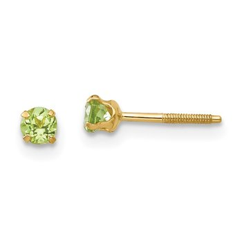 14k Madi K 3mm Peridot Earrings