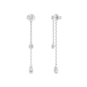 The Forevermark Tribute™ Collection Round and Pear Diamond Drop Earrings