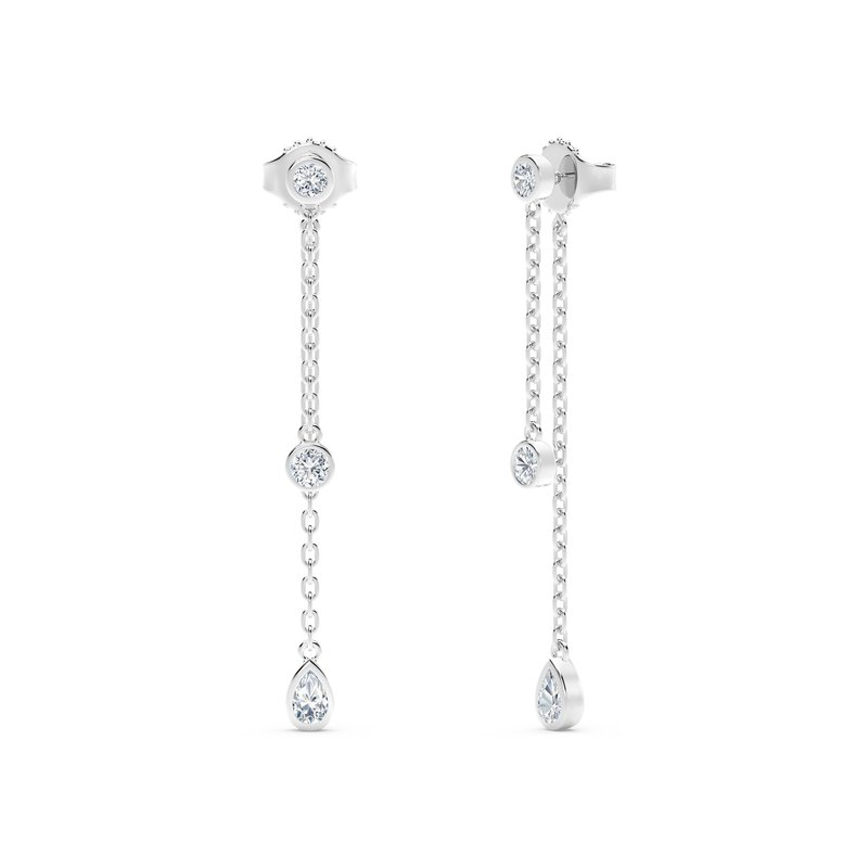 Forevermark Tribute Collection The Forevermark Tribute™ Collection Round and Pear Diamond Drop Earrings