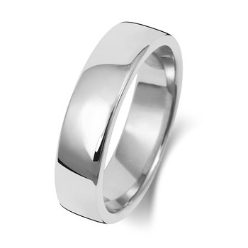9Ct White Gold 5mm Soft Court Wedding Ring