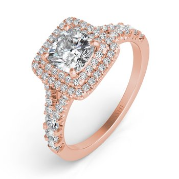 ose Gold Pave Engagement Ring