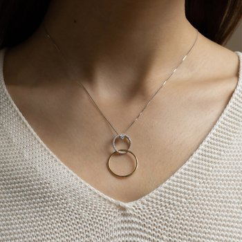 Interlocking Circles Diamond Pendant