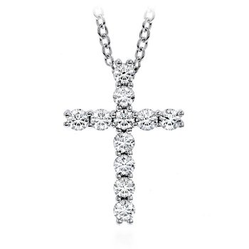 0.15 ctw. Whimsical Cross Pendant Necklace