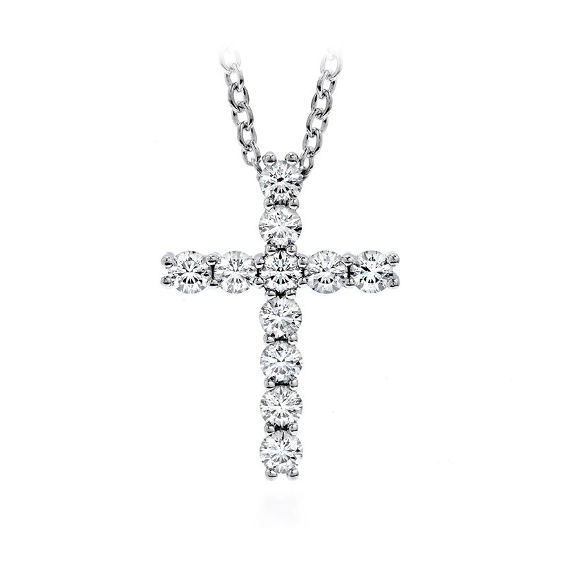Hearts on Fire 0.15 ctw. Whimsical Cross Pendant Necklace