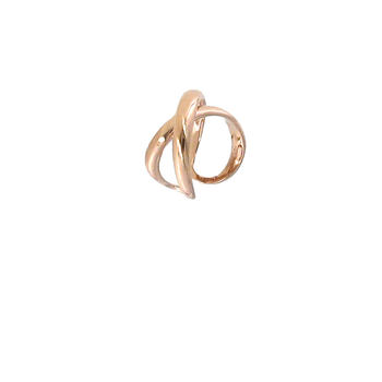 18KT ROSE GOLD CROSSOVER X RING