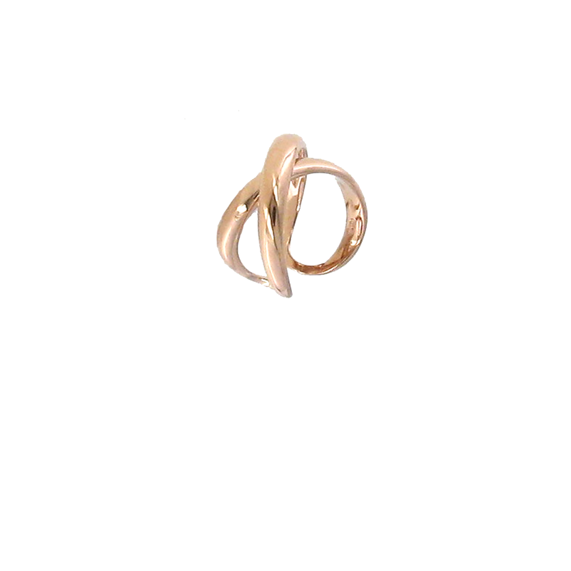 Roberto Coin 18KT ROSE GOLD CROSSOVER X RING