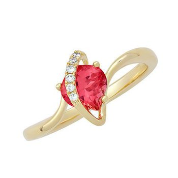 Padparadscha Ring-CR11754YPD