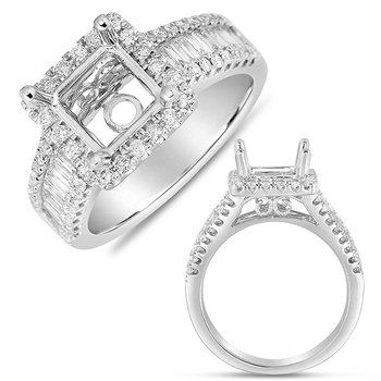White Gold Pave Halo RIng