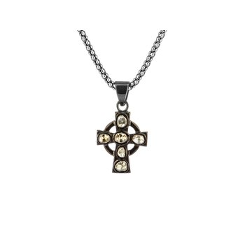 Raw Diamond Celtic Cross Pendant