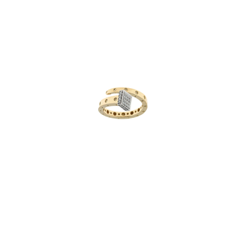 18KT GOLD CHIODO RING WITH DIAMONDS