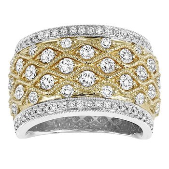 14K Diamond Band 1 1/3 ctw