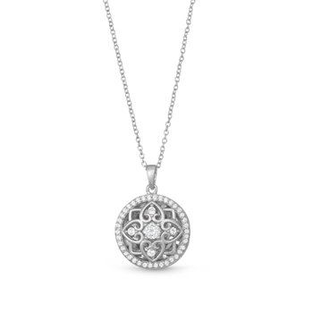 Elsie Locket Necklace Silver