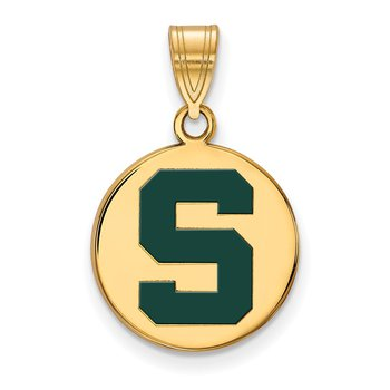 Gold-Plated Sterling Silver Michigan State University NCAA Pendant